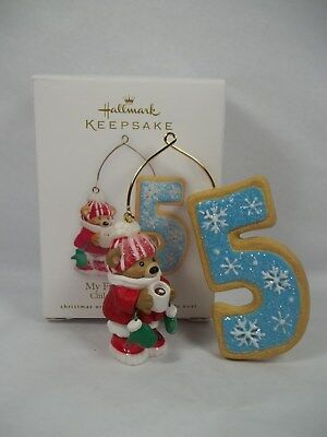 Hallmark 2010 Child My Fifth Christmas Ornament Age Bears Cookies Any Year Childs Fifth Christmas Ornament