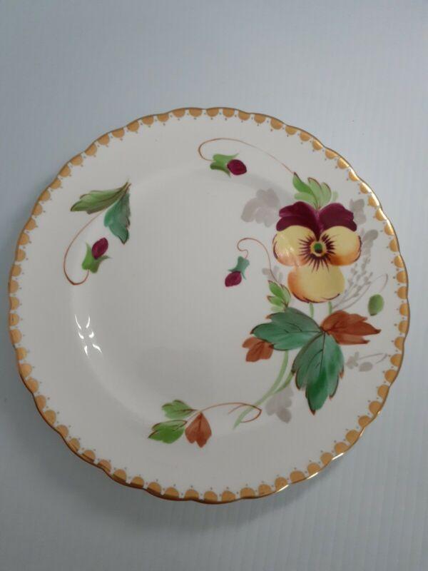 Royal tuscan fine bone china Pansy Salad plate