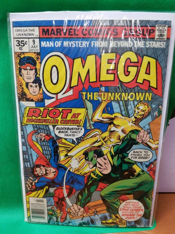 OMEGA THE UNKNOWN #9 First full app FOOLKILLER 35 cent variant 1977