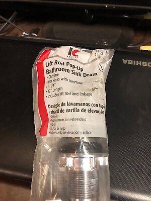 "Keeney Lift Rod Pop-Up Bathroom Sink Drain Chrome 1 1/4""-12"" L22070k ()"