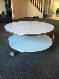 Round Glass Coffee Table Campbelltown Campbelltown Area Preview