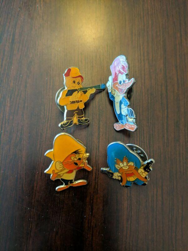 Lot of 4 Looney Tunes Hatpins Yosemite Sam, Elmer Fud, Speedy Gonzales Woody W.P