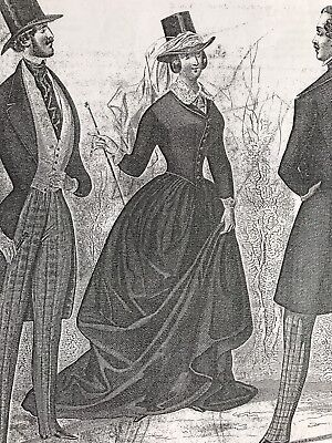 DV- MUSEE DES MODES April 1845 SIDE-SADDLE / AMAZONE 3 costumes Sewing patterns
