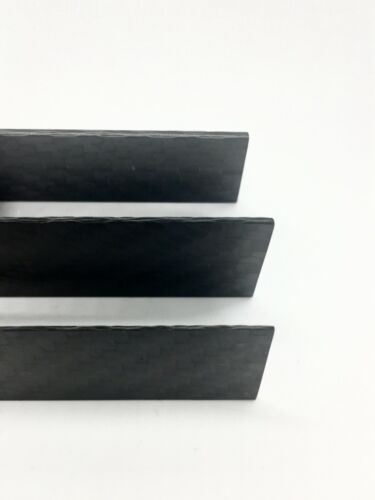 "Carbon Fiber Plate Sample Pack 6K 100% Carbon Sheet Made In The US .032""-.078"""