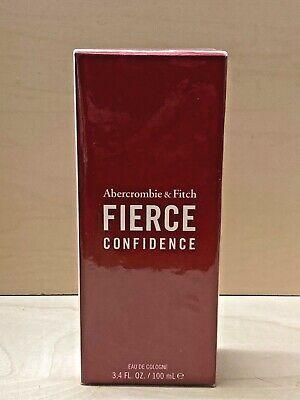 Abercrombie & Fitch FIERCE CONFIDENCE Men's Eau De Cologne Spray 3.4 Oz *SEALED*