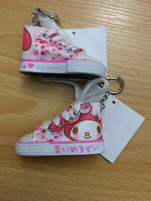 1 SANRIO My Melody CANVAS Shoes Converse  KEYCHAIN RING (PINK) Trinket Plush