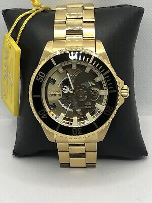 Invicta 26597 Unisex Gold Stainless Steel Gold Dial Automatic Wrist Watch OP484