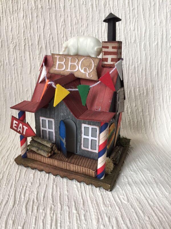 Vintage Style Putz Village House BBQ