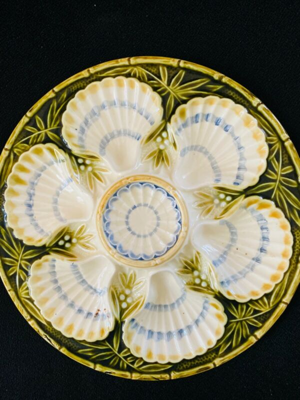 Porcelain oyster plate, mid century