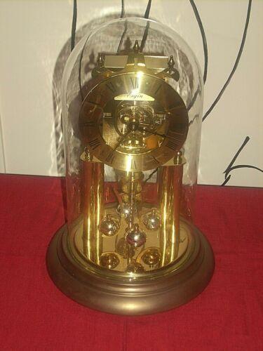 VTG ELGIN HALLER TIME BOMB 400 DAY WIND ANNIVERSARY DOME SKELETON CLOCK GERMANY