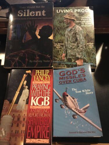 PHILIP YANCEY. TOM WHITE. CLEBE MCCLARY. HARVEY YODER. 4 BOOKS.  - $4.00
