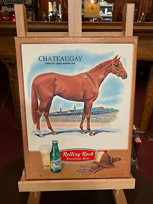 1960's ROLLING ROCK Beer Cardboard Advertising Sign FOR SALE $125