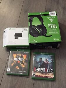 2 games turtle beach wireless head set and play and charger kit