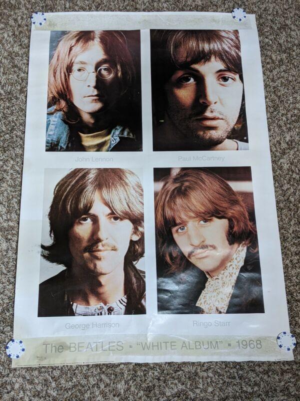 VINTAGE 1968 THE BEATLES WHITE ALBUM ORIGINAL POSTER  RARE