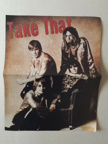 Take That 1996 Greek Mini Magazine Double Page Mini Poster
