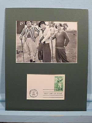 The Three Stooges Play Golf and the stamp for Grand Slam Winner Bobby Jones ()