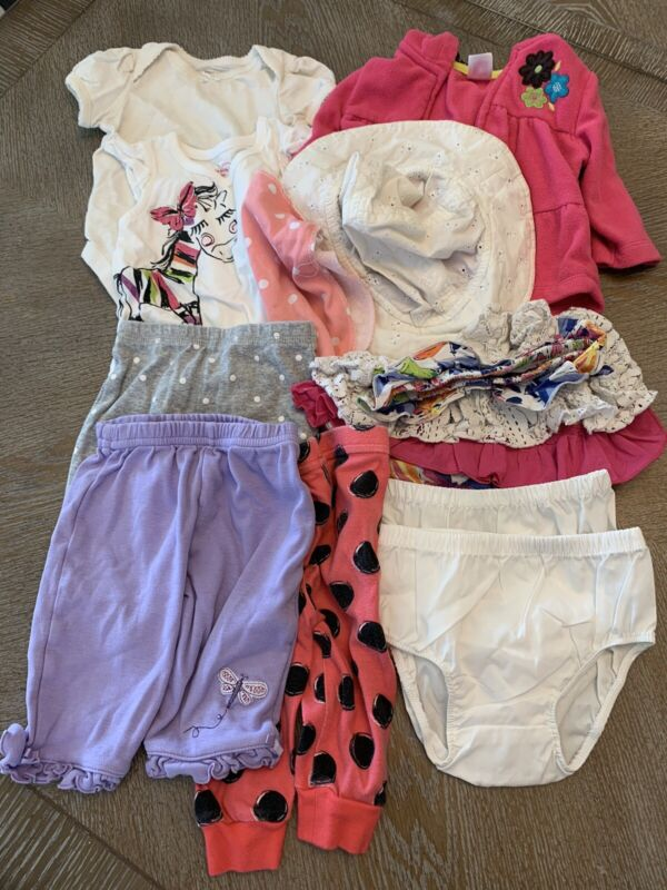 Baby Girl 3-6months Summer Clothes Sun Hat Light Jacket Lot Of 10 Mixed Carters
