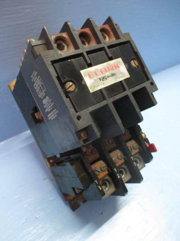 Clark A O Smith T13U033 Size 3 Motor Starter Type TM Sz3 120V Coil 90 Amp 50 Hp