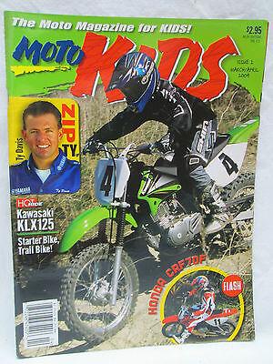 Moto Kids Magazine March April 2004 Dirt Bike Motocross Ty Davis Kawasaki KLX125
