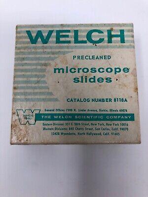Welch Brand 60 Glass Microscope Slides Catalog 8118a 1 Inch X 3 Inch 1x3