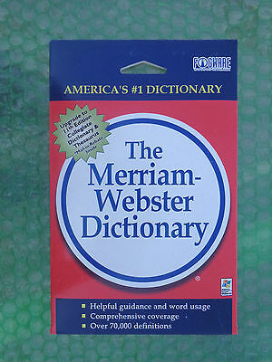 Merriam Webster Dictionary Cd Rom   New Factory Sealed