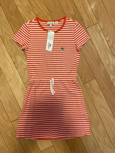 $70 LACOSTE Kids Girl Dress 100% cotton Size 8 128cm