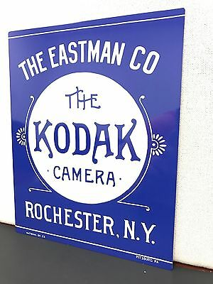 (Kodak film vintage late 1800's style metal advertising sign baked)