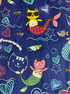 - SCRUB TOP SIZES: XS, S, M, L, XL, 2XL MERCAT MERMAID CATS NWT NURSE MEDICAL VET