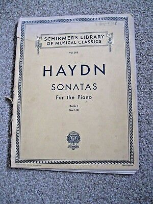 Haydn Sonatas for the Piano Book 1 Schirmer's Library of Classical Music