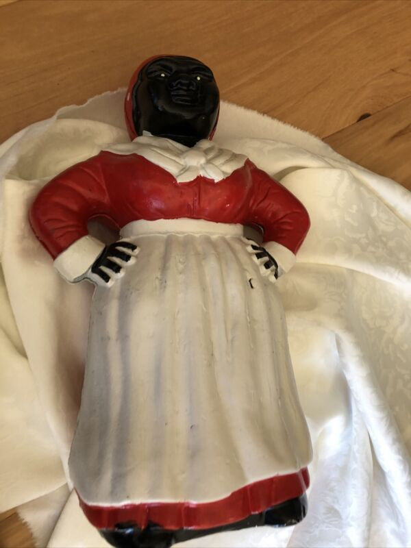 Vintage African American Woman Cast-iron Bank