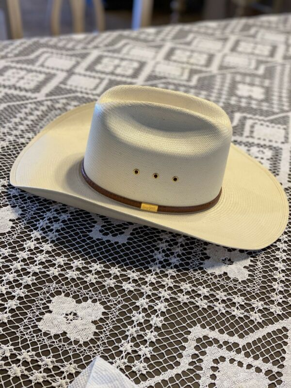 Resistol Straw Cowboy Hat 6 7/8