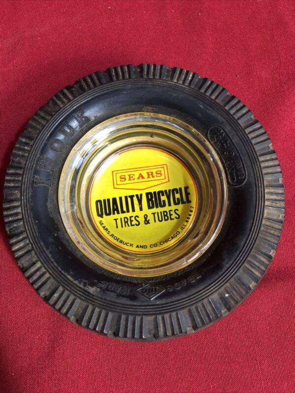 RARE VINTAGE ORIGINAL SEARS  TIRE Quality Bicycle Tires & Tubes Ashtray INOUE