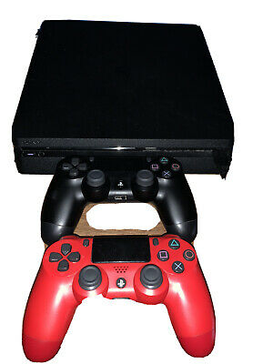 Sony PlayStation 4 Slim 1TB Console - Jet Black And Red Playstation 4 Controller