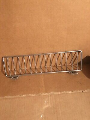 Lot Of 35 Gondola Shelf Fence Fencing Dividers 11x3 Chrome 11 X 3