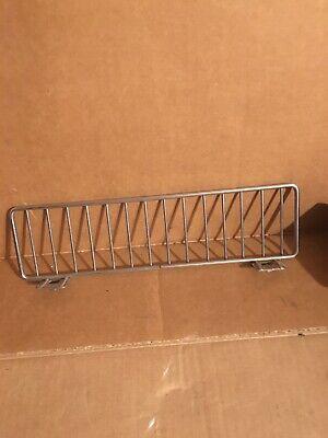 Lot Of 35 Gondola Shelf Fence Fencing Dividers 11x3 Chrome 11 X 3