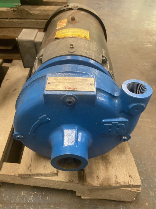 New Flowserve 1.5x1x7 Type 3000 Centrifugal Pump Used Baldor Motor 7.5Hp 3450RPM