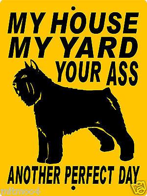 "BOUVIER  DOG SIGN, 9""x12"" ALUMINUM,GUARD DOG,WARNING SIGN,SECURITY, 1994BDF"