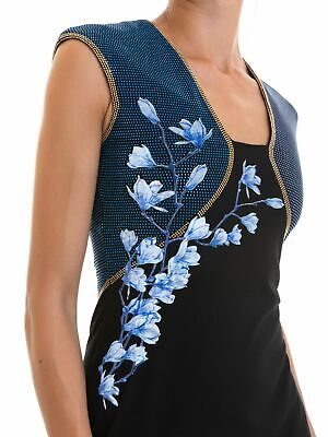 VERSACE Collection Cocktail Dress V-Neck Sleeveless Sz 40 IT 4 US