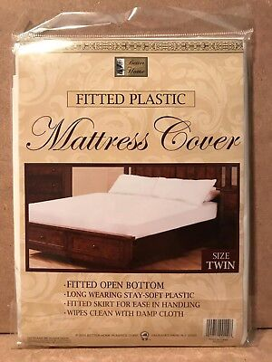 Better Home Fitted Plastic Mattress Cover White Waterproof Bed Bug Dust