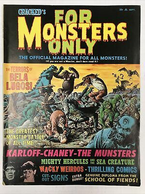 Cracked's For Monsters Only #2 1965 Vintage Horror Magazine Rare