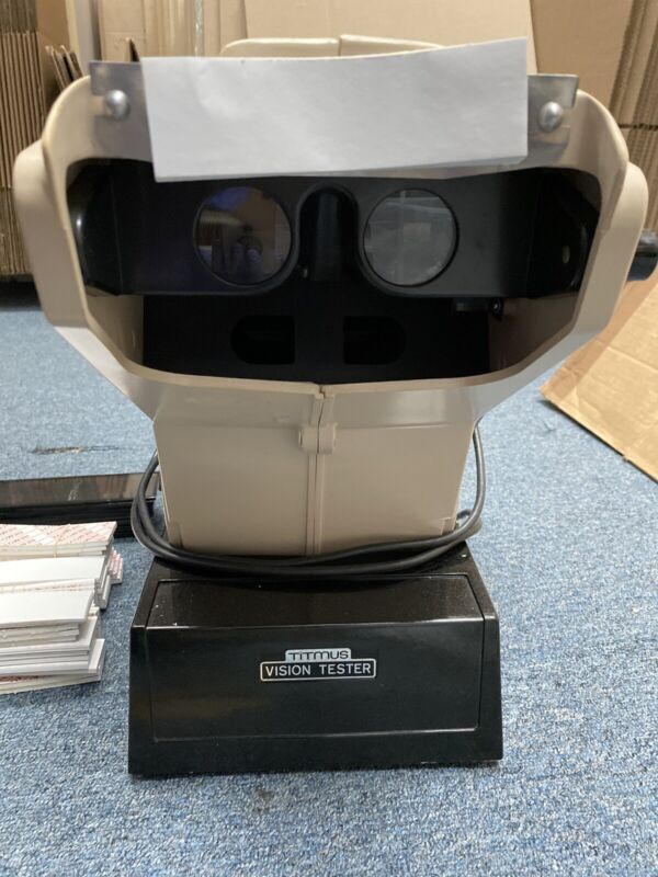 Titmus OV-7M  Vision Tester With 13 Extra Glass Slides -Good Condition.