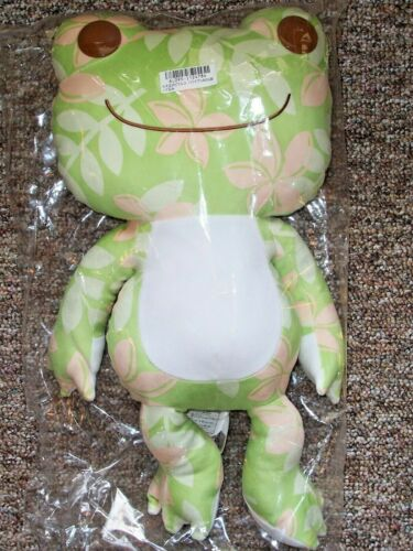 "Pickles the Frog Hawaiian Print Plush 20"" Toreba Nakajima NWT Stuffed Animal!"