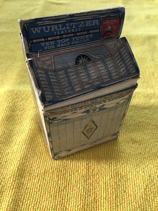 Vintage Wurlitzer Advertising BANK With MATCHBOOKS  FOR MODEL 2600 Jukebox