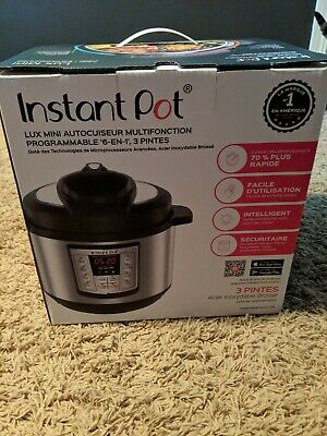 Instant pot lux mini 6 in 1 multi-use pressure cooker 3 quarts