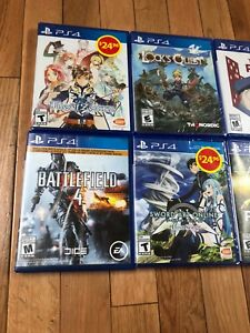 Mostly sealed ps4 games !