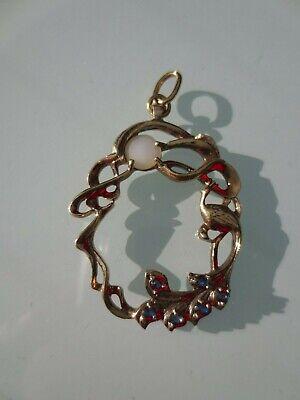 Magnifique pendentif en Argent plaqué Or 925 Sterling FM81 - 4 cm