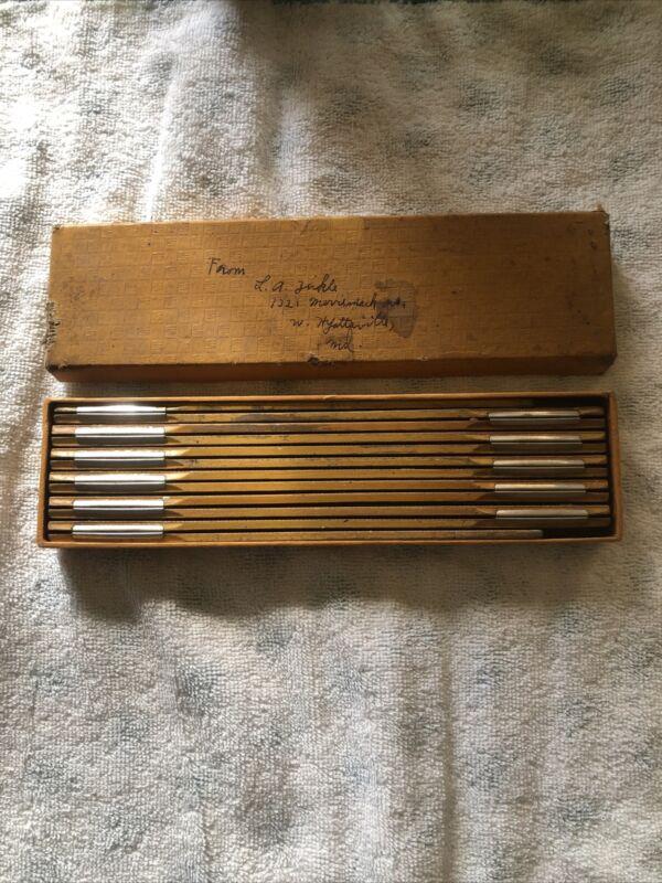 "Vintage Stanley Zig Zag Folding 72"" Wooden Ruler No. 227 In Box."