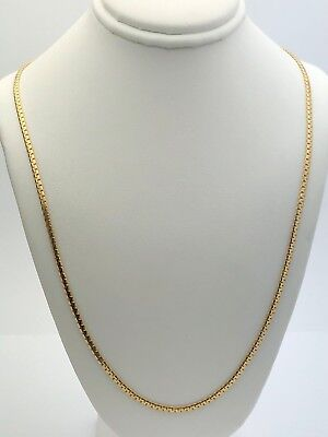 """Italian 14k Yellow Gold Solid Serpentine Chain Necklace 24"""" 2.15mm 9 grams"""
