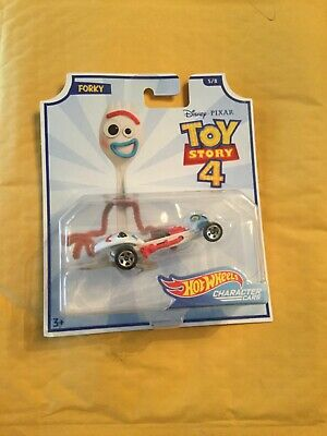 Hot Wheels Character Cars Disney Toy Story 4 FORKY Car New