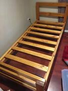 Solid timber single bed frame + MATTRESS great condition Endeavour Hills Casey Area Preview